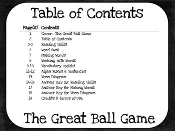 The Great Ball Game  2nd Grade Harcourt Storytown Lesson 8