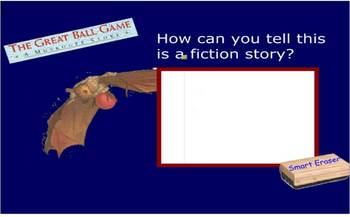 The Great Ball Game SmartBoard comprehension activity