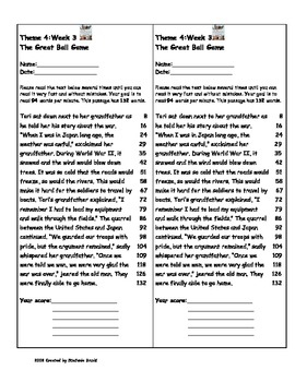 The Great Ball Game by Joseph Bruchac-Fluency Words & Story