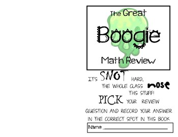 The Great Boogie Math Review Student Answer Book FREE