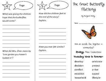 The Great Butterfly Flutterby Trifold - 3rd Grade Literacy by Design Theme 1