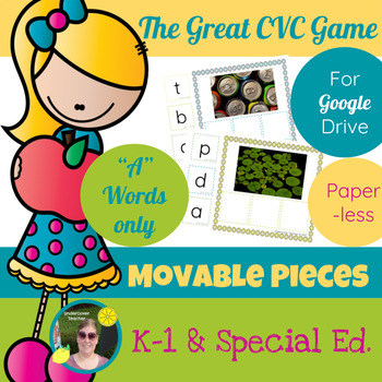 The Great CVC Game (A Words Only) Paperless, Digital