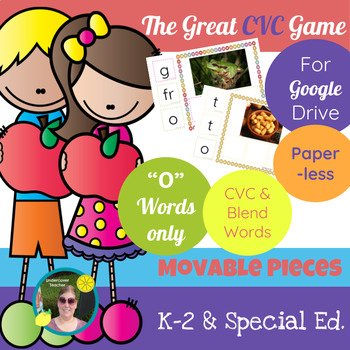 The Great CVC Game (O Words Only) Paperless, Digital
