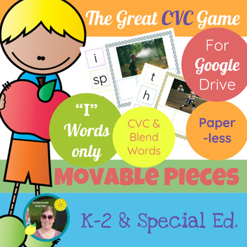 The Great CVC Game (i Words Only) Paperless, Digital