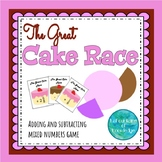 The Great Cake Race - Adding and Subtracting Fractions Game