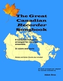 The Great Canadian Recorder Songbook + BONUS (*Audio and BLMs)
