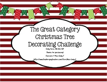 The Great Category Christmas Tree Decorating Challenge