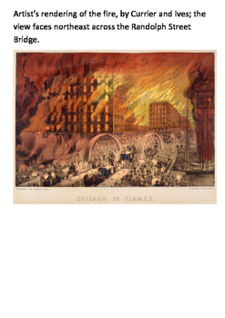 The Great Chicago Fire 1871 Word Search
