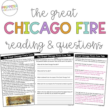 The Great Chicago Fire Reading & Questions