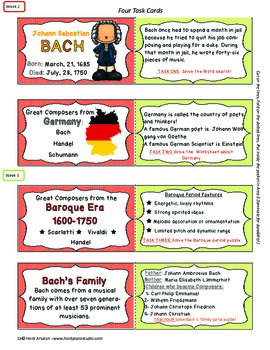 The Great Composers - Bach lapbook