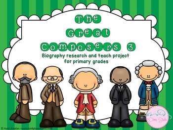 36 Composers  biography research and teach project (THE BUNDLE)