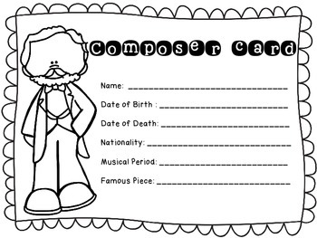 The Great Composers- biography research and teach project (set 5)