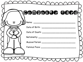 The Great Composers- biography research and teach project (set 6)