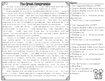 Great Compromise Reading Passages for SS Integration