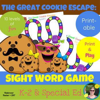 The Great Cookie Escape Sight Word Game - Printable