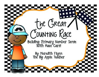 The Great Counting Race- Race Car Themed Counting and Numb