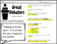 The Great Debaters - Complete Movie Guide & Debate Graphic Organizer
