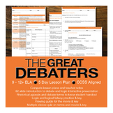 The Great Debaters Viewing Guide and Introduction to Debate Bundle