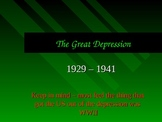 The Great Depression - A PowerPoint To Aid Any Lesson