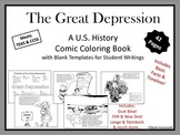 The Great Depression: A U.S. History Comic Coloring Book