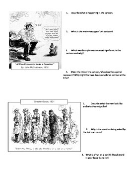 The Great Depression Cartoon Analysis