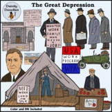 The Great Depression Clip Art by Dandy Doodles