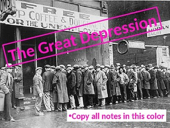 The Complete Great Depression Unit PowerPoint