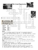 The Great Depression Crossword Puzzle or Web Quest