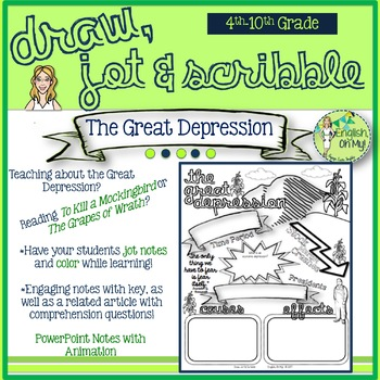 The Great Depression-Draw, Jot & Scribble-Doodle Notes