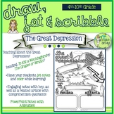 The Great Depression-Draw, Jot & Scribble, Coloring Notes