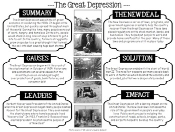 The Great Depression {Free}