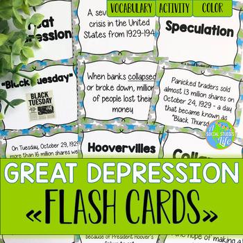 Great Depression FLASH CARDS