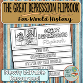 The Great Depression Flip Book for World History