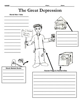The Great Depression Graphic Organizer
