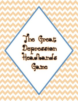 The Great Depression Headbands Game