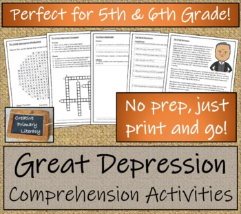 The Great Depression - 5th & 6th Grade Close Reading Activity