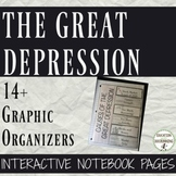 Great Depression Color Interactive Notebook Graphic Organizers