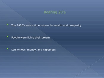 The Great Depression & New Deal PowerPoint Presentation