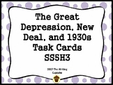The Great Depression, New Deal, and 1930s Task Cards (GMAS:  SS5H3)