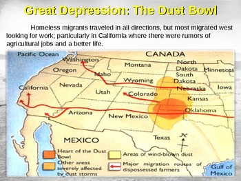 Great Depression! (PART 3: DUST BOWL) visual, textual, engaging 100-slide PPT