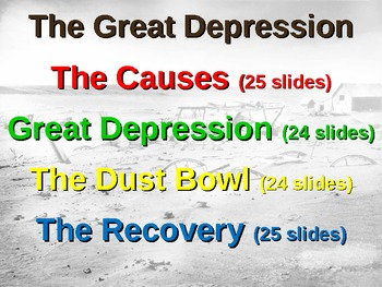 Great Depression! (PART 4: RECOVERY & NEW DEAL) visual, engaging 100-slide PPT