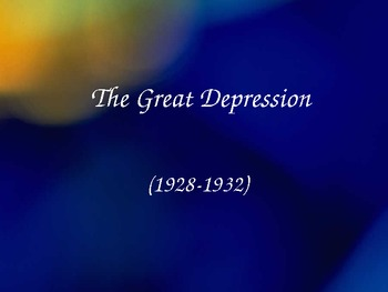 The Great Depression PPT