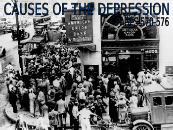 21 - The Great Depression - PowerPoint Notes