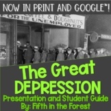 The Great Depression PowerPoint PLUS Student Guide for Dis