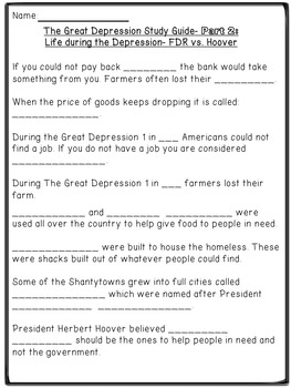 The Great Depression Powerpoint and Study Guide by Bethany ...