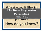 The Great Depression Prereading
