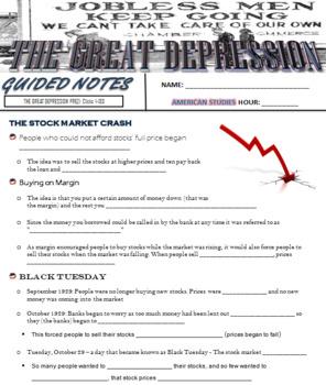 The Great Depression Prezi
