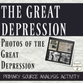 Great Depression Primary Source Analysis and center Activi