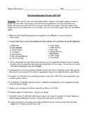 The Great Depression Projects and Rubric