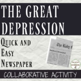 Great Depression Project Quick and Easy Newspaper
